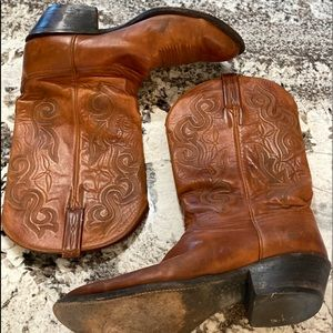 Lucchese Classics Leather Brown Cowboy Boots 11